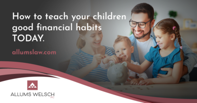 Teaching your children good financial habits